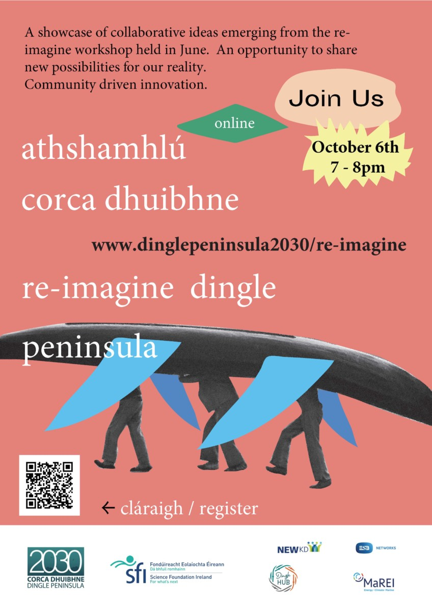 Showcase of ideas emerging from Re-Imagine Dingle Peninsula Workshop
